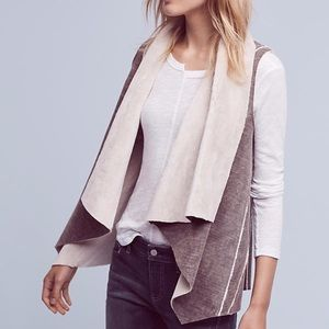 Anthropologie | amadi kady sherpa gray vest XL